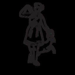 Contorno dibujado a mano de Artemisa
