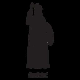 Athena mão desenhada recortar preto