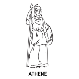 Athena esquema dibujado a mano