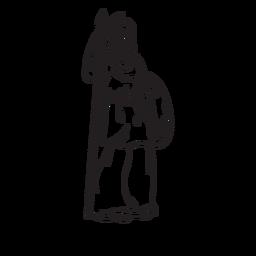 Contorno desenhado de mão de Athena