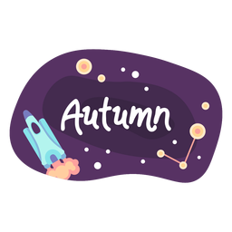 Autumn space sticker icon