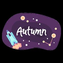Icono de etiqueta de espacio otoñal