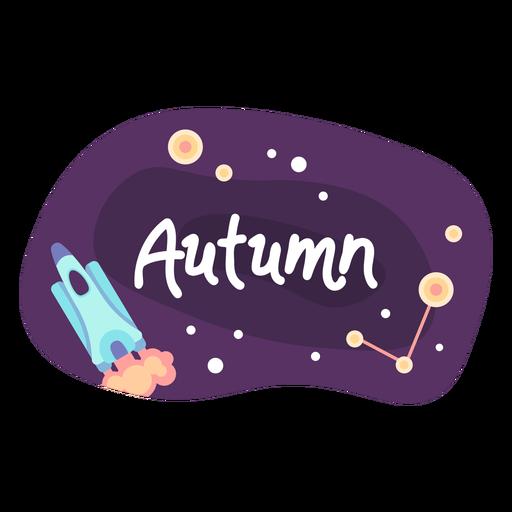 Autumn space sticker icon