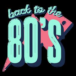 Letras de volta aos anos 80