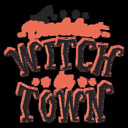 Baddest bruxa na cidade letras de halloween