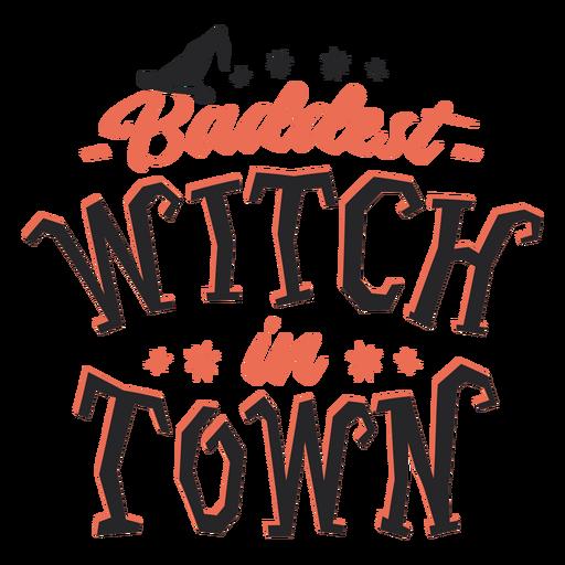 La bruja más mala de la ciudad letras de halloween Transparent PNG