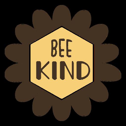 Be kind flower lettering Transparent PNG