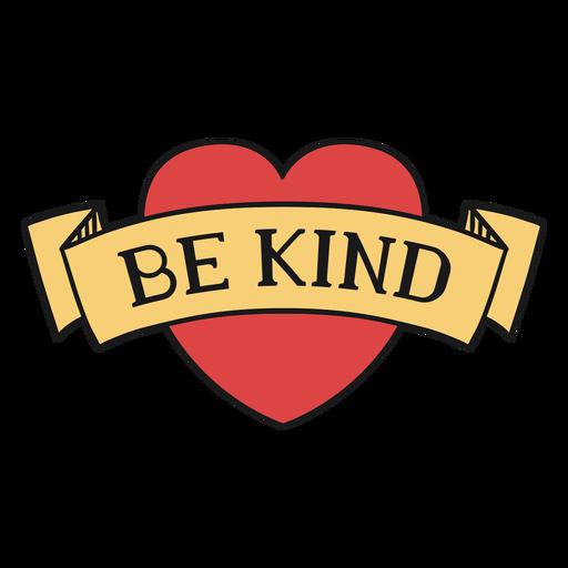 Sea amable corazón banner letras Transparent PNG
