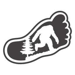 Bigfoot in foot cut out