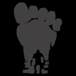Bigfoot im Fußabdruck ausgeschnitten