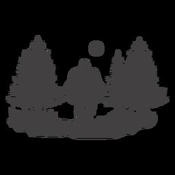 Bigfoot im Wald ausgeschnitten