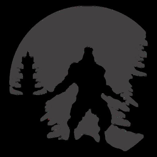 Pose do poder de Bigfoot nas madeiras cortadas Transparent PNG
