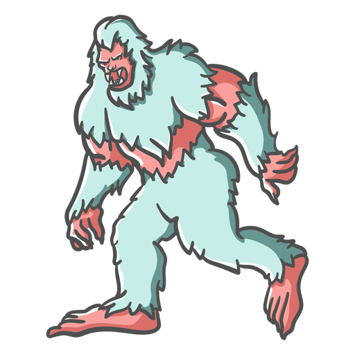Bigfoot Sasquatch gruñendo caminando Transparent PNG
