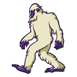 Bigfoot sasquatch walking