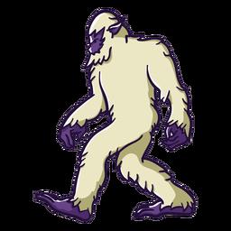 Pé-grande sasquatch caminhando