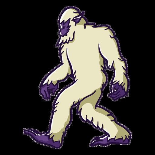 Bigfoot sasquatch caminando Transparent PNG