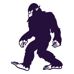 Bigfoot sasquatch walking cut out blacke
