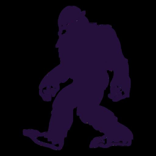 Bigfoot sasquatch caminando recortado blacke