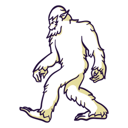 Bigfoot sasquatch walking duotone