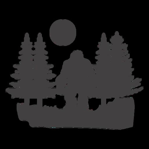 Pie grande en bosque cortado Transparent PNG