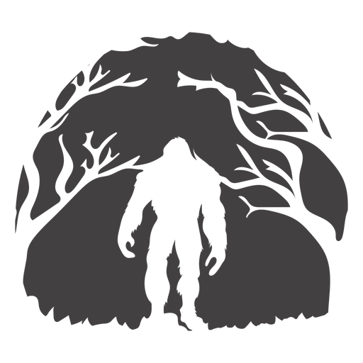 Bigfoot de pie en el bosque cortado Transparent PNG