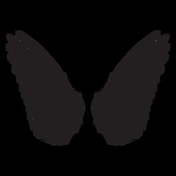 Asas de anjo pássaro cortado preto