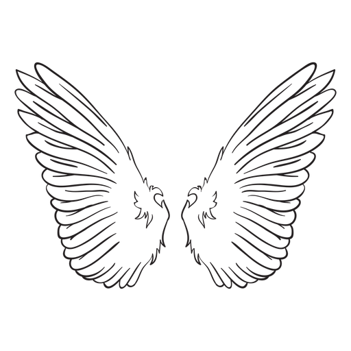 Bird angel wings outline Transparent PNG