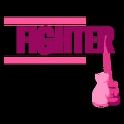 Bandera de luchador de cáncer de mama