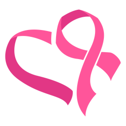 Breast cancer ribbon heart symbol
