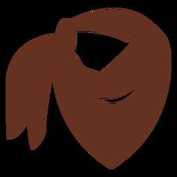 Bufanda de bandana marrón corte icono