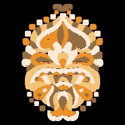 Composição orgânica simétrica floral marrom