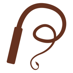 Brown whip silhouette