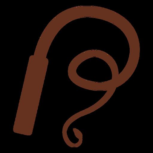 Silueta de látigo marrón
