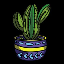 Bulbous cactus plant pot