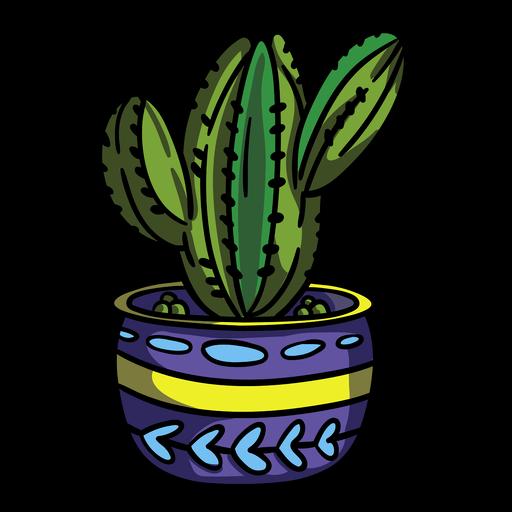 Maceta de cactus con bulbo Transparent PNG