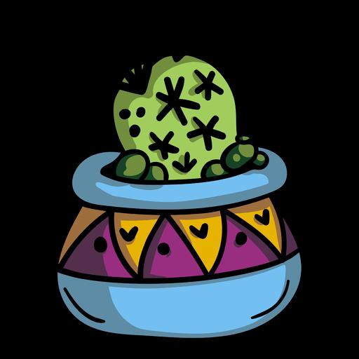 Maceta de cactus Transparent PNG