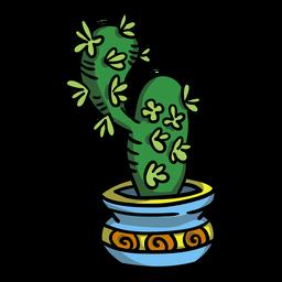 Vaso de planta suculenta de cacto
