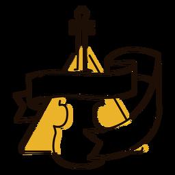 Símbolo de música clásica de violonchelo