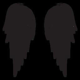 Alas de ángel clásicas cortadas en negro
