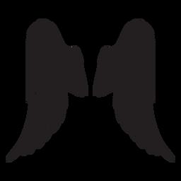Asas elegantes clássicas do anjo cortadas preto
