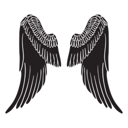 Classic elegant angel wings cut out black