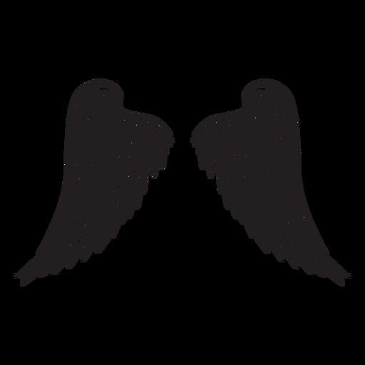 Alas de ángel en capas clásicas recortadas en negro Transparent PNG