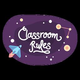 Ícone da etiqueta do espaço de regras da sala de aula
