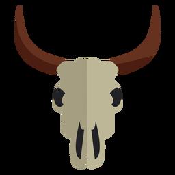 Cow bull skull icon