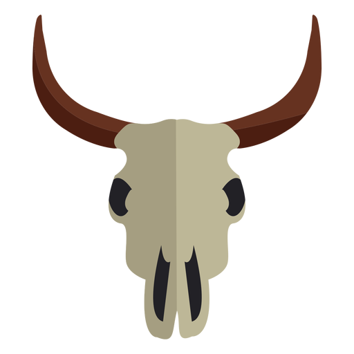 Cow bull skull icon Transparent PNG