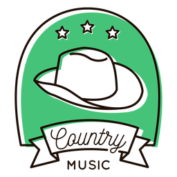 Cowboy hat country music symbol