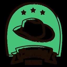 Símbolo de la música country de sombrero de vaquero