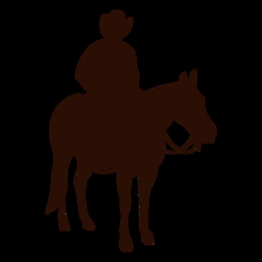 Cowboy horse riding three quarter silhouette Transparent PNG