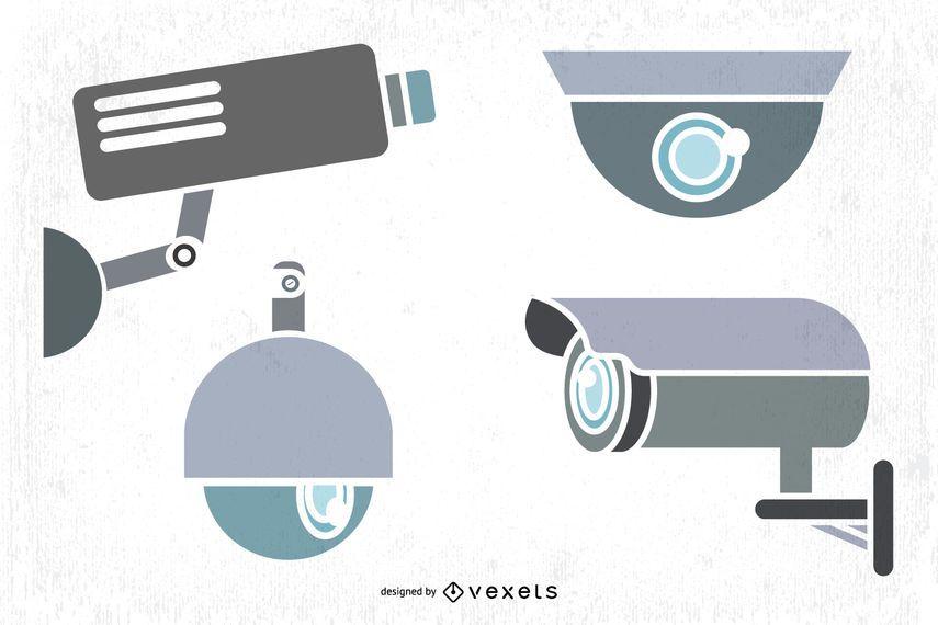 CCTV Camera Vector Graphics
