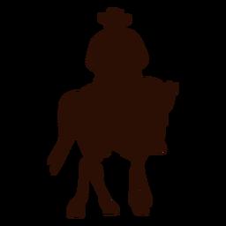 Caballo vaquero girando silueta